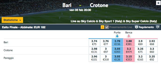 bari - crotone