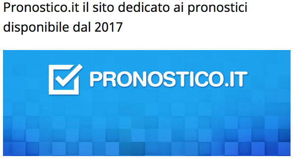 pronostico.it 2017