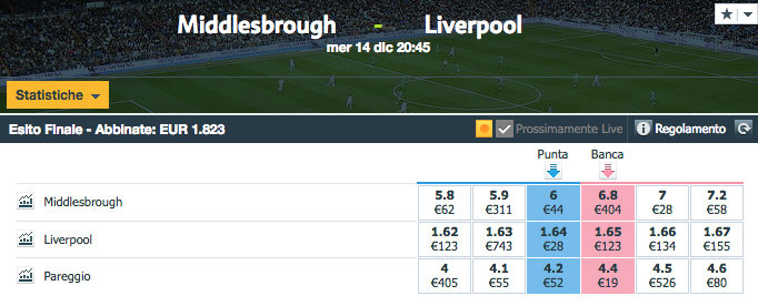quote middlesbrough - liverpool